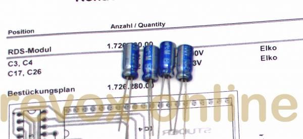 Kondensatorensatz RDS-Modul für Revox B260