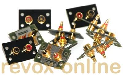 Einbau der Abstandserweiterungen der Cinchbuchsen für Revox Geräte