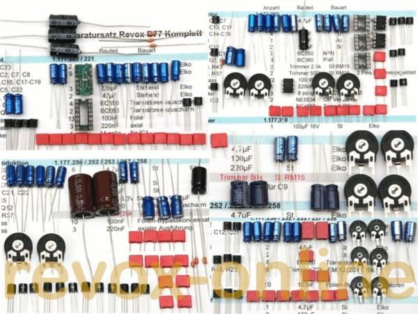 Reparatursatz Audio mit NT für alle Revox A77 (MKI bis MKVI)