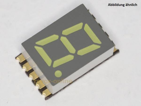 7-Segment-Anzeige weiß LED SMD 7,62 mm