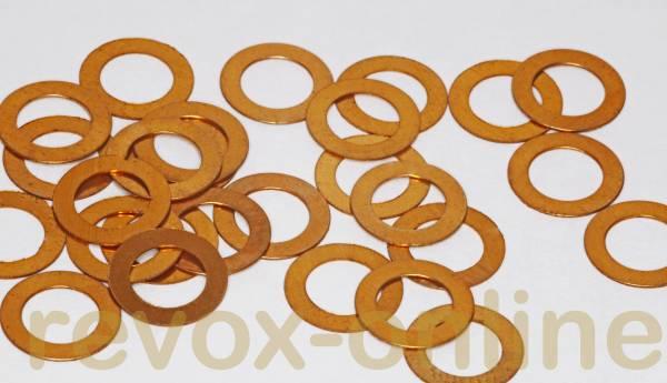Kupferscheibe für Andruckrolle Revox PR99, B77
