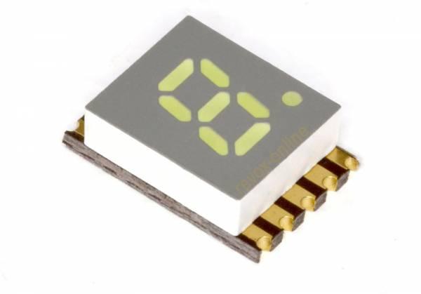 "7-Segment-Anzeige weiß LED SMD 5,08 mm common Cathode white 0,2 "" Display"