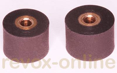 Gummi-Andruckrollen 2 Stück für Revox Studer A710, B710, 8.0mm u. 8.5mm