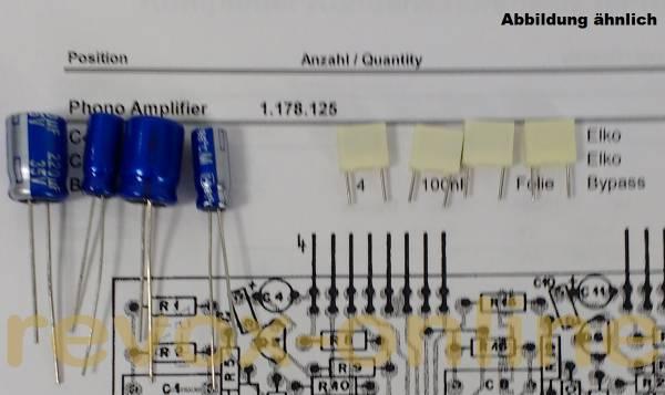 Kondensatorensatz Phono Amplifier (Phonoverstärker) für Revox B750