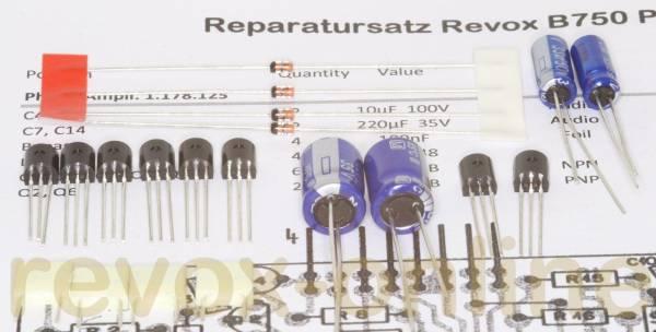 Reparatursatz Revox B750 Phonoplatine