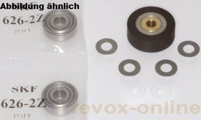 Andruckrolle Revox B77 + 2 Bandlauflager + 4 Scheiben