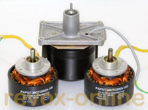 Motoren für Revox A77 (2 Spulmotoren, 1 Tonmotor)