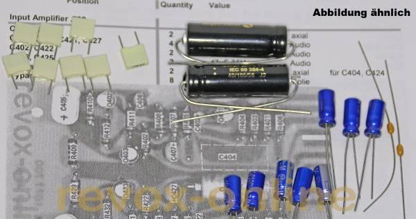 Kondensatorensatz Revox A77 Input / Eingang