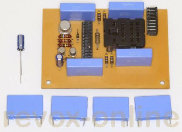 X2-Entstörkondensatoren für Studer Revox A700, A67, B67, X2 470nF (4 Stück), + 1 Elko 10µF
