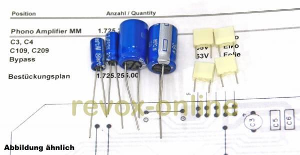 Kondensatorensatz Revox B250 Phono Amplifier MM