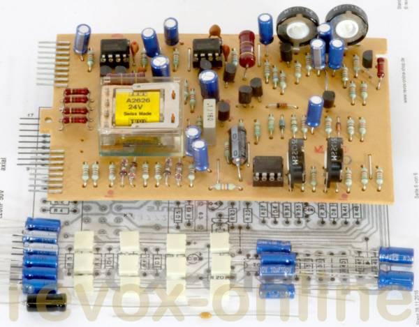 Kondensatorsatz + Relais Capacitor set Revox B77 Monitor-Platinen 1.177.260