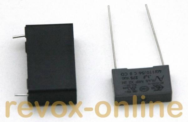X2-Entstörkondensatoren 1 x 470nF, 1 x 100nF