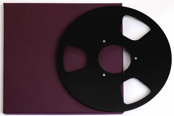 Leerspule in schwarz, 3 Loch mit Schuber