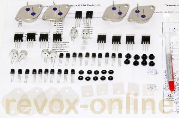 Reparatursatz, Transistorsatz Endstufen für Revox B750