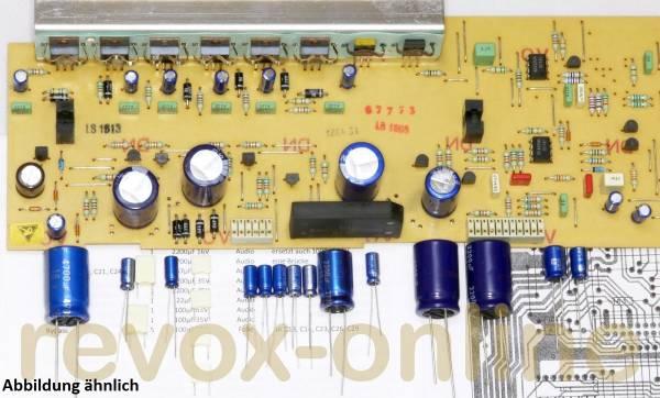 Kondensatorsatz Revox B225 Servo1 PCB, Netzteil