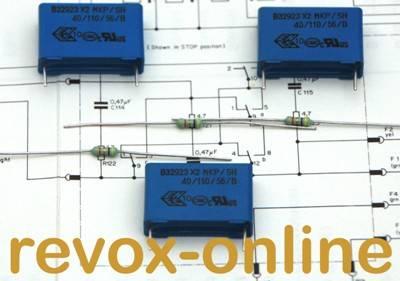 X2-Entstörkondensatoren 470nF mit Widerständen