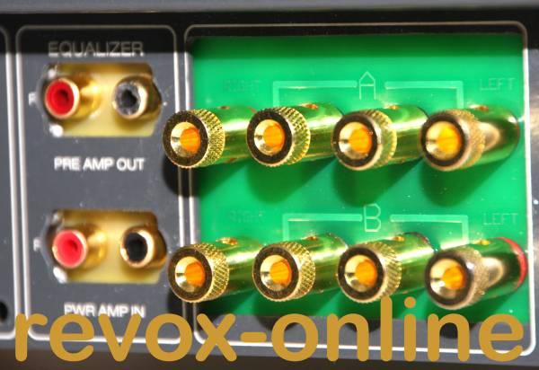 Einbau Lautsprecheranschlüsse, Polklemmen, Bananas für Revox B750
