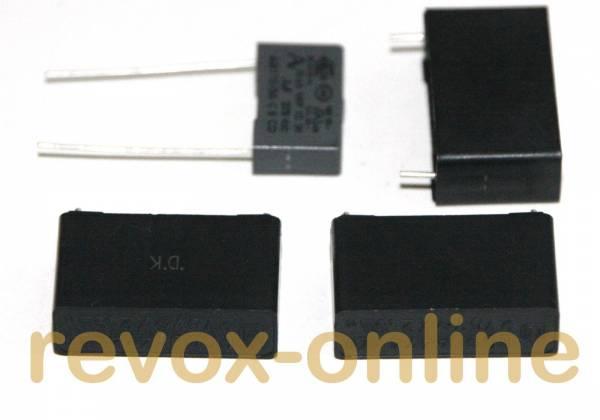 X2-Entstörkondensatoren 3 x 470nF, 1 x 100nF