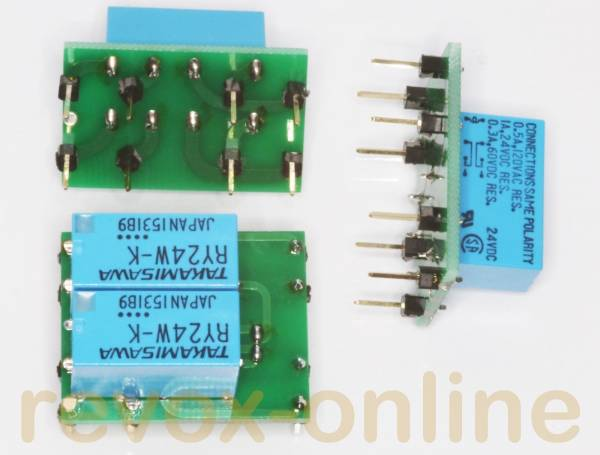 Relais-Satz 1x NF4 EB 24V, AZ7-4C-24V 2x NF 2 EB 24V für alle Revox B739