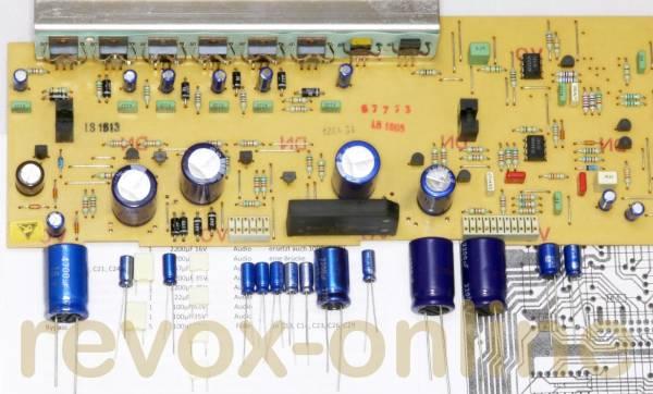 Kondensatorsatz Servo1 Servo 1 PCB Netzteil Studer A725 Revox B225 Capacitor kit