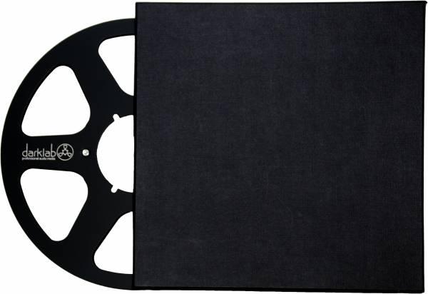 Alu-Leerspule Classic 6-Loch, schwarz, im Archivkarton