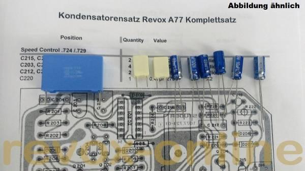 Kondensatorensatz Revox A77 Speedcontrol IC-Version