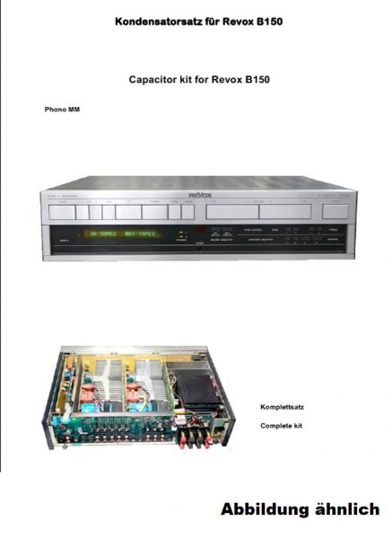 Kompletter Kondensatorensatz (mit Ladekondensatoren) für Revox B150
