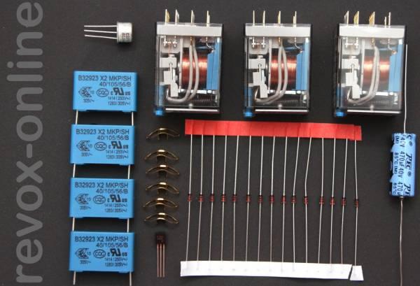 Reparatursatz Revox A77 Laufwerksteuerung mit Relais
