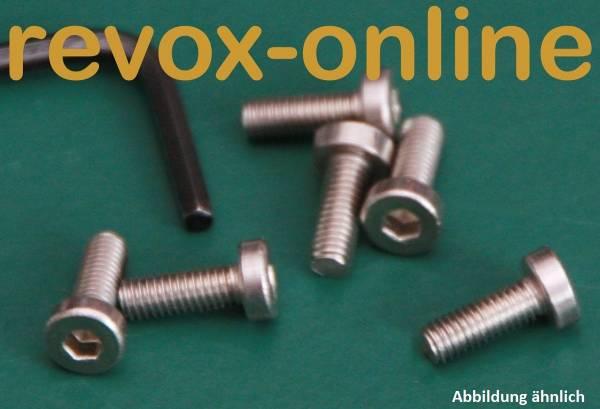 Edelstahl-Schrauben, Innensechskant (6 Stück) Revox B77