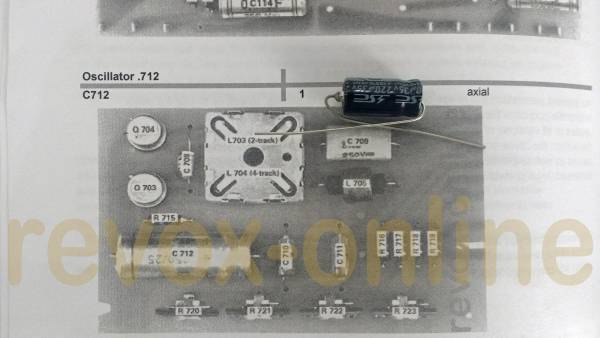 Kondensatorensatz Revox A77 Audio ohne Netzteil