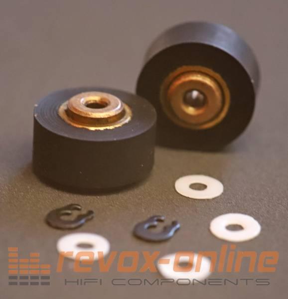 Andruckrollen Revox B215 mit Teflonscheiben