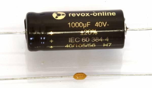 Kondensatoren 1000µF 40V axial mit Bypässen