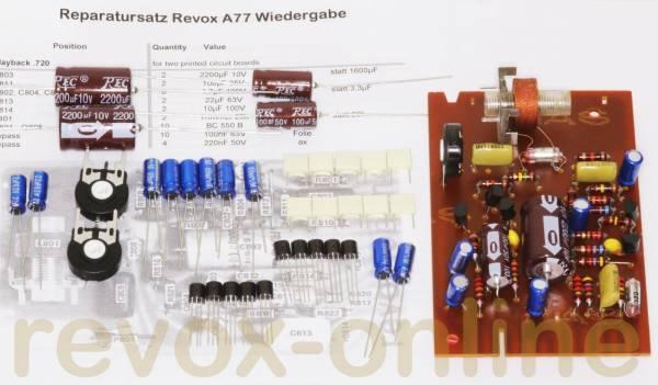 Reparatursatz für zwei Wiedergabe-Leiterplatten 1.077.720 für alle Revox A77