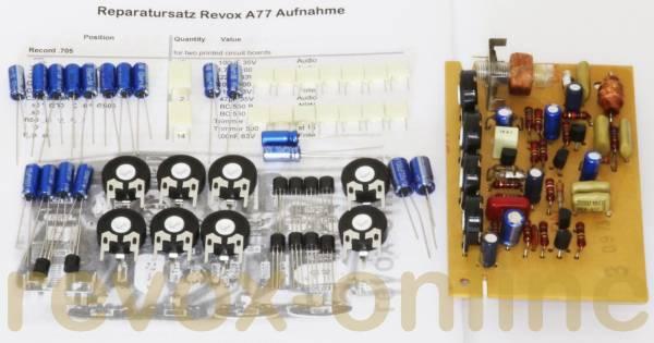 Repairkit, Revisionssatz für alle Record-Leiterplatten, 1.077.705, Revox A77