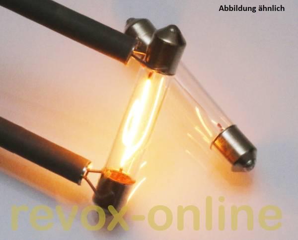 2 Soffittenlämpchen 24V 3W für Revox B760