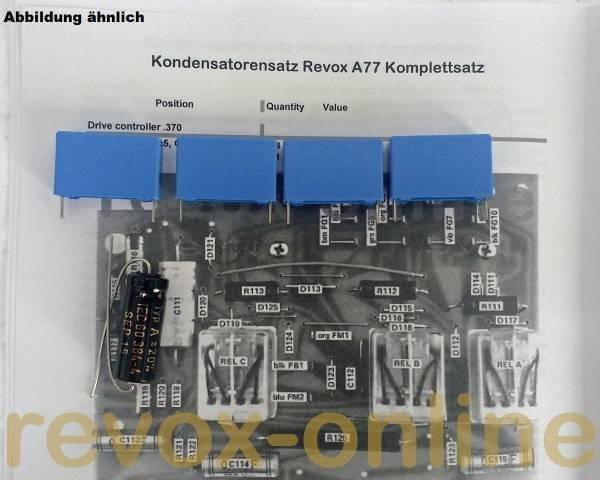Kondensatorensatz Revox A77 Laufwerksteuerung