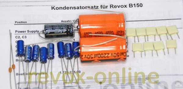 Kondensatorensatz Netzteil (Power Supply) für Revox B150