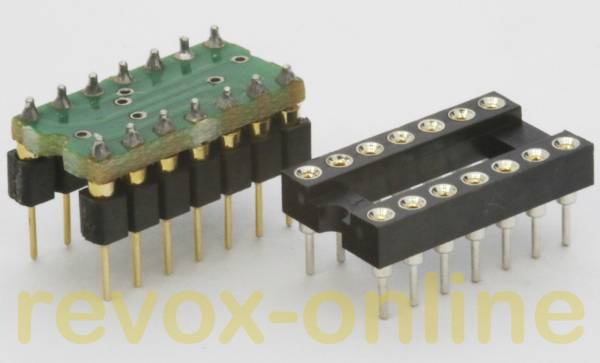 Ersatz für TBA931, TBA231, µA739, µA749, RC4739, SN76131 mit LME49720 und Sockel