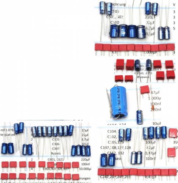 Kondensatorensatz, Komplettsatz ohne Ladeelkos für Revox A50, A78