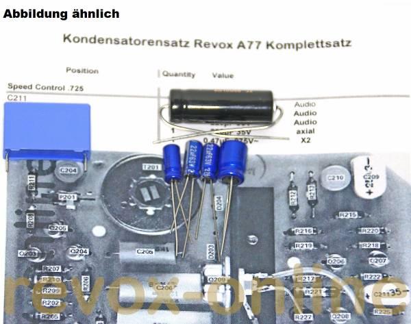 Kondensatorensatz Revox A77 Steuerung ohne Netzteil