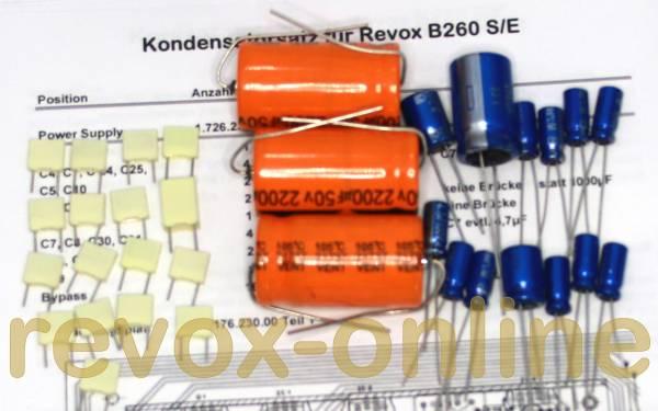 Kondensatorensatz Revox B260 Netzteil