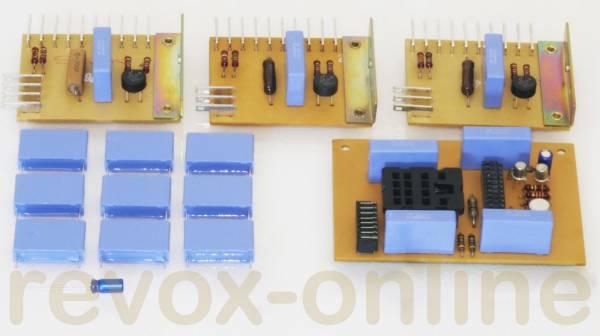 X2-Entstörkondensatoren, 9 Stück für Studer Revox A700, X2 470nF, + 1 Elko 10µF