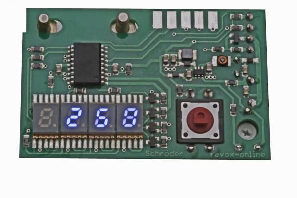 Einbau Digitalzähler für Revox A77, B77, PR99 MKI