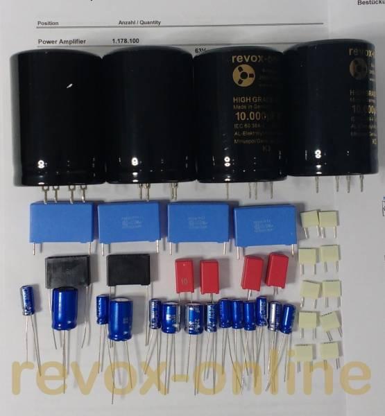 Kondensatorensatz Endstufen für Revox B750