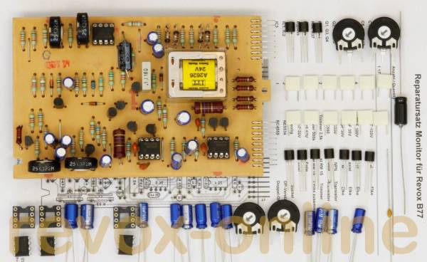 Reparatursatz Revox B77 Monitor-Platine mit Muting-Relais