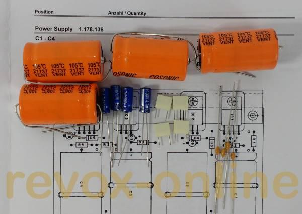 Kondensatorensatz Revox B750 Netzteil