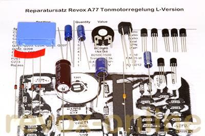 Reparatursatz Revox A77 Speedcontrol L-Version