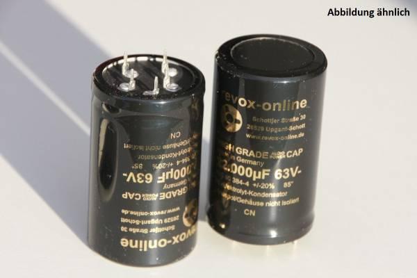 Ladekondensatoren 22000µF / 63V (2 Stück), Siebkondensatoren für alle Revox B285
