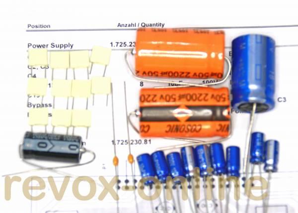 Kondensatorensatz Revox B250 Netzteil