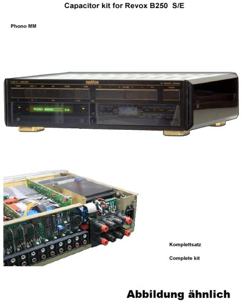 Kompletter Kondensatorensatz Revox B250 S/E Phono MM ohne Ladekondensatoren